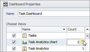 reporting task dashboard