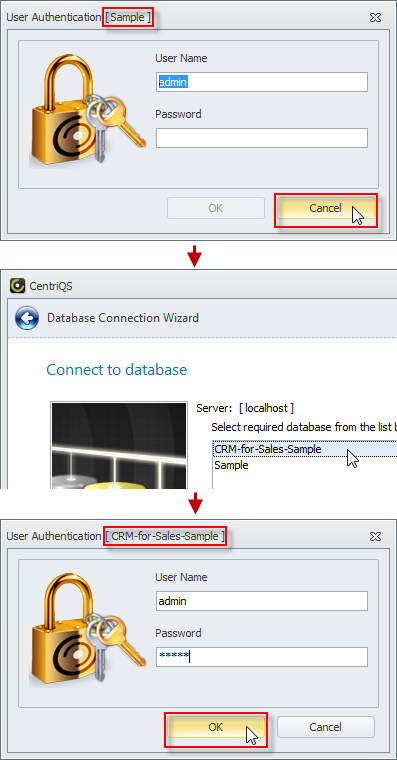 using database cancel auto connection