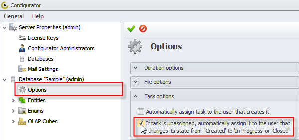 task auto assignment option